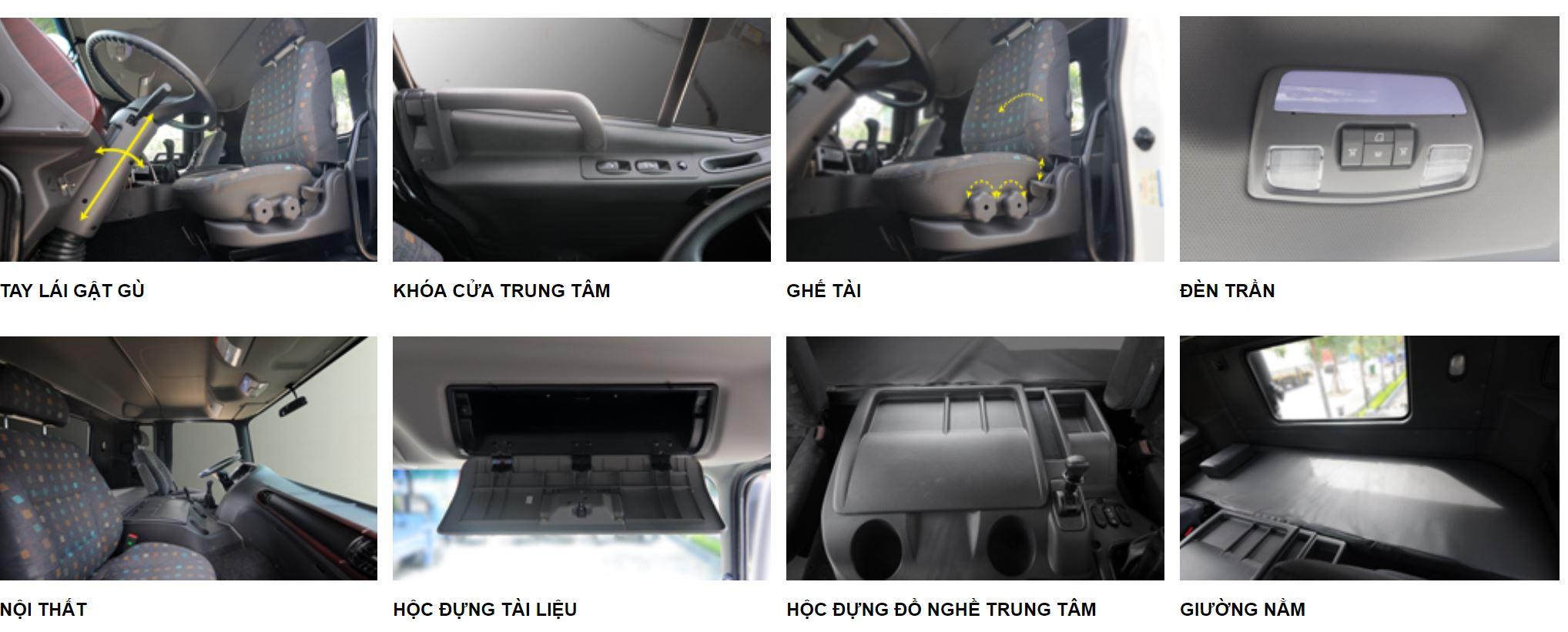 nội thất xe đầu kéo hyundai hd700