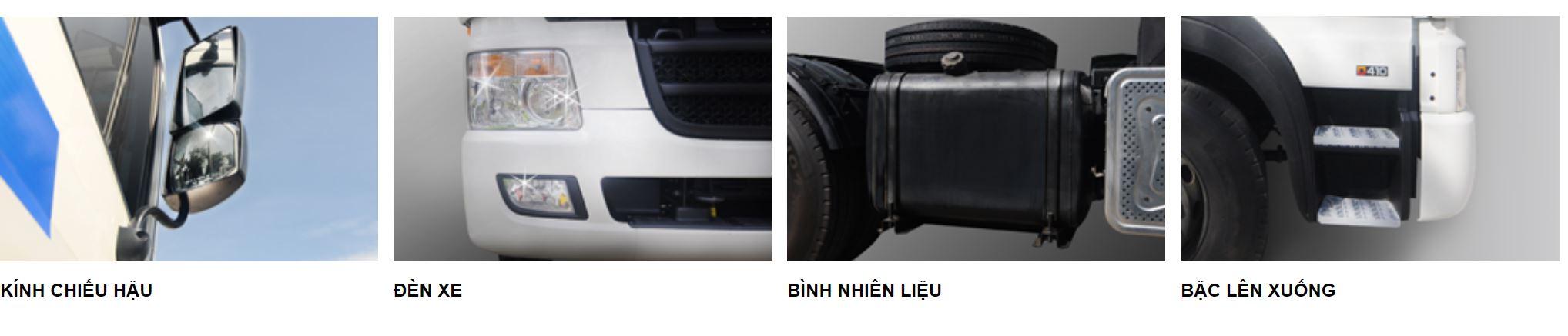 ngoại thất xe đầu kéo hyundai hd700