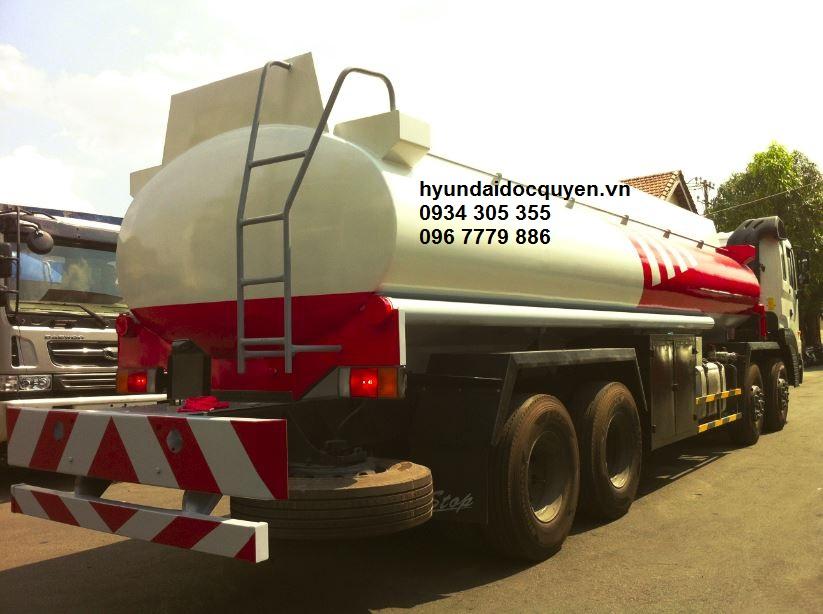 xe bồn chở xăng dầu xitec hyundai hd320 21 khối 2