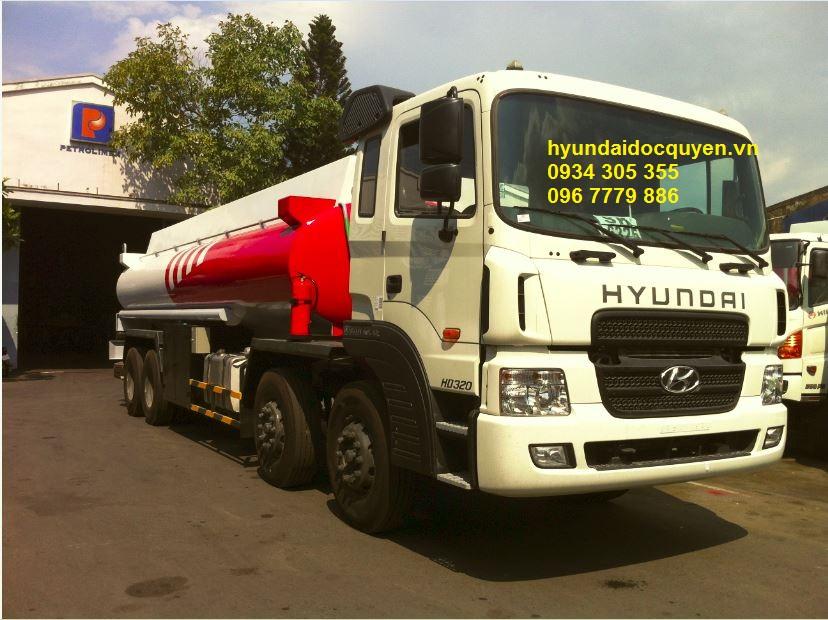 xe bồn chở xăng dầu xitec hyundai hd320 21 khối
