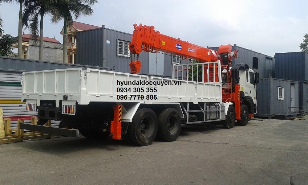 xe cẩu hyundai hd320 4 chân kanglim 10 tấn ks2605 1