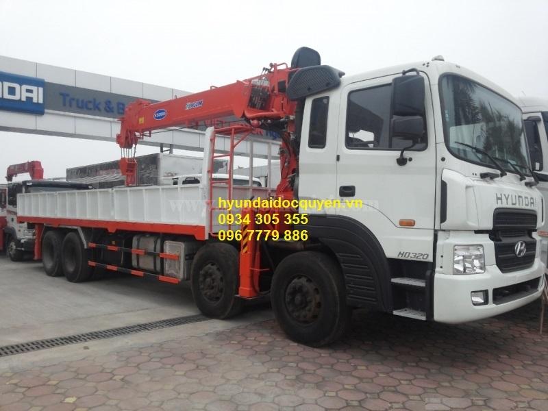 xe cẩu hyundai hd320 4 chân kanglim 10 tấn ks2605 2