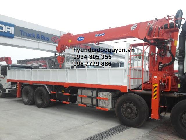 xe cẩu hyundai hd320 4 chân kanglim 10 tấn ks2605 3
