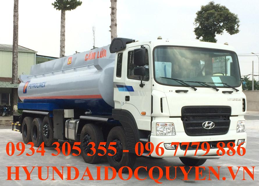 Xe Xitec chở xăng dầu 26 Khối Hyundai HD360 5 chân Máy Cơ