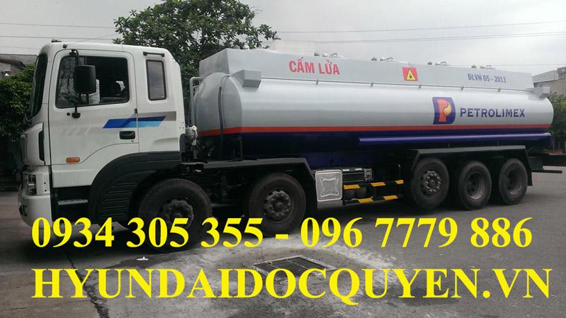 xe bồn xăng dầu 5 chân hd360