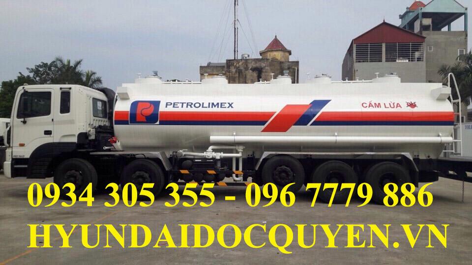 xe bồn chở xăng dầu 5 chân