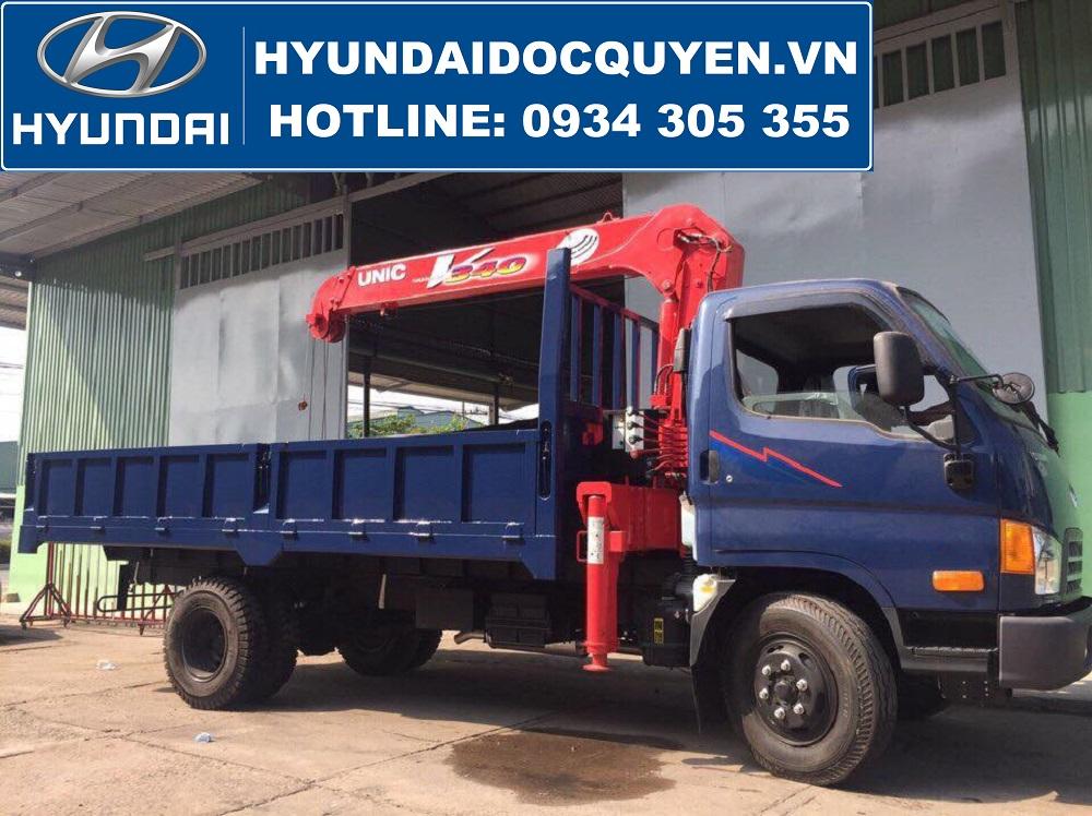 Xe Tải Hyundai 110S Mighty Thành Công Gắn Cẩu Unic 3 Tấn URV 340
