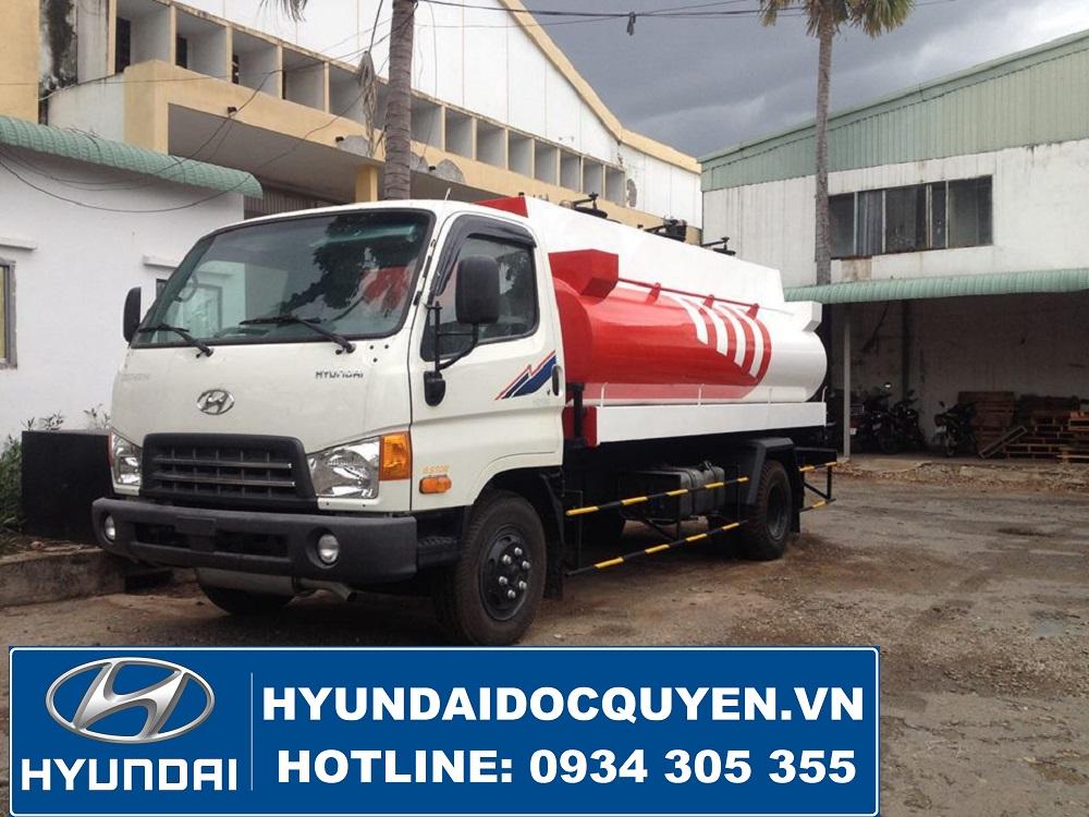 hyundai 110s chở xăng dầu 8 khối