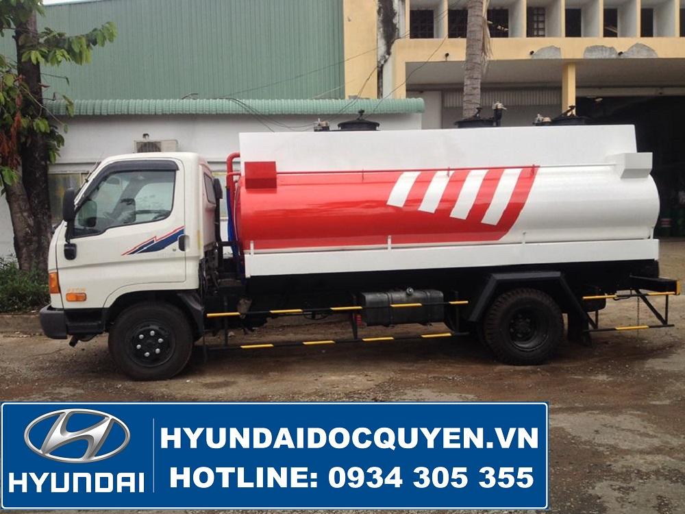 Xe Bồn Xitec Chở Xăng Dầu Hyundai 8 Khối Thành Công Mighty 110S