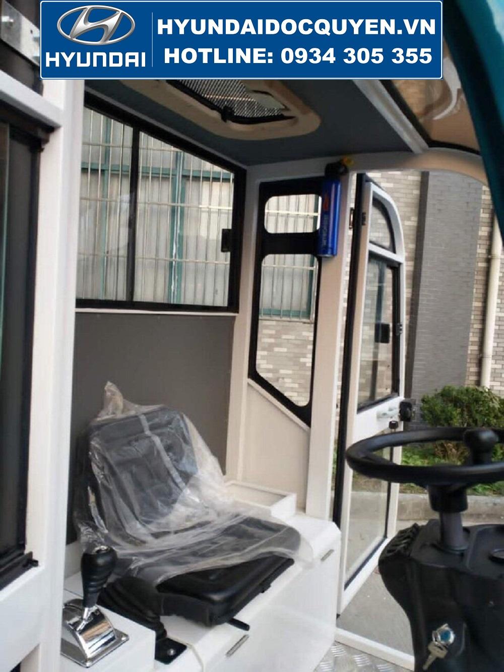nội thất xe quét rác hút bụi kl2100
